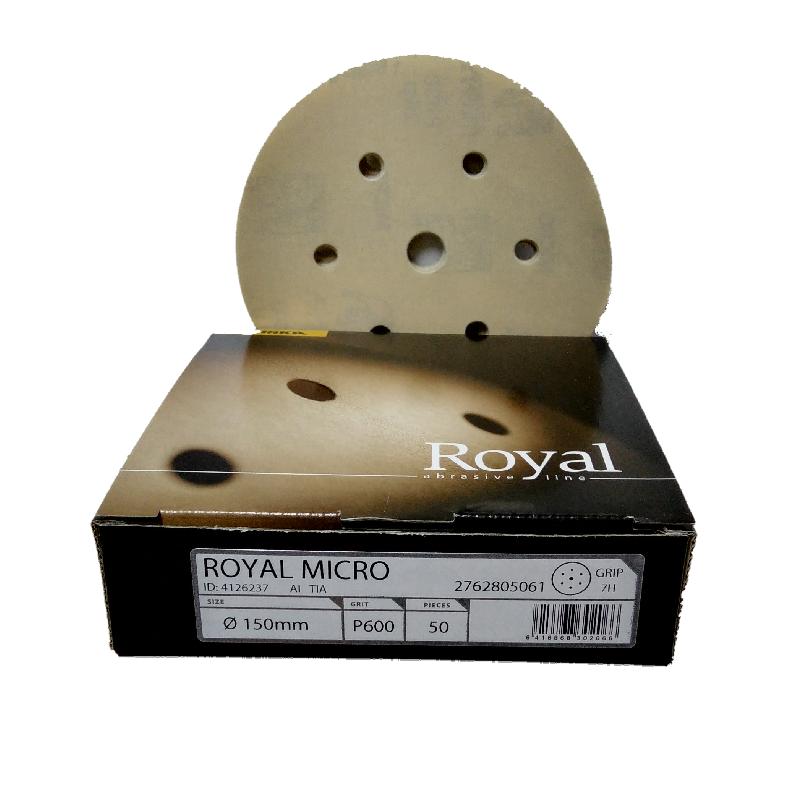 MIRKA ROYAL MICRO 150 mm krążek ścierny rzep gr 600-1500